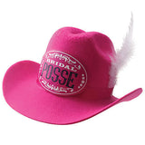 Bridal Posse Pink Clip-on Cowgirl Bachelorette Party Hat