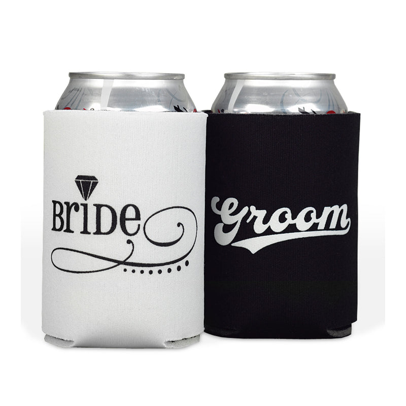 Bride and Groom Can Cooler Sleeve