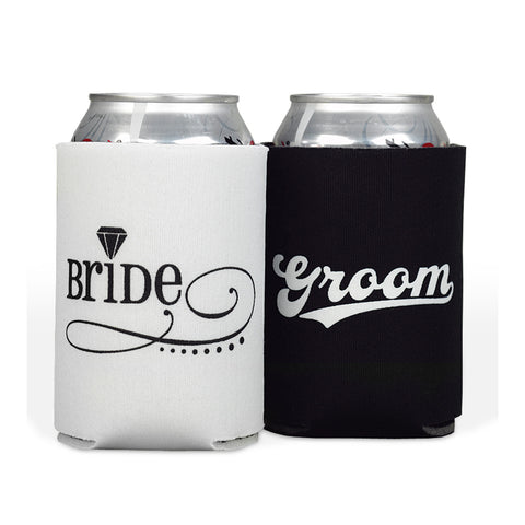 Bride & Groom Can Cooler Sleeve