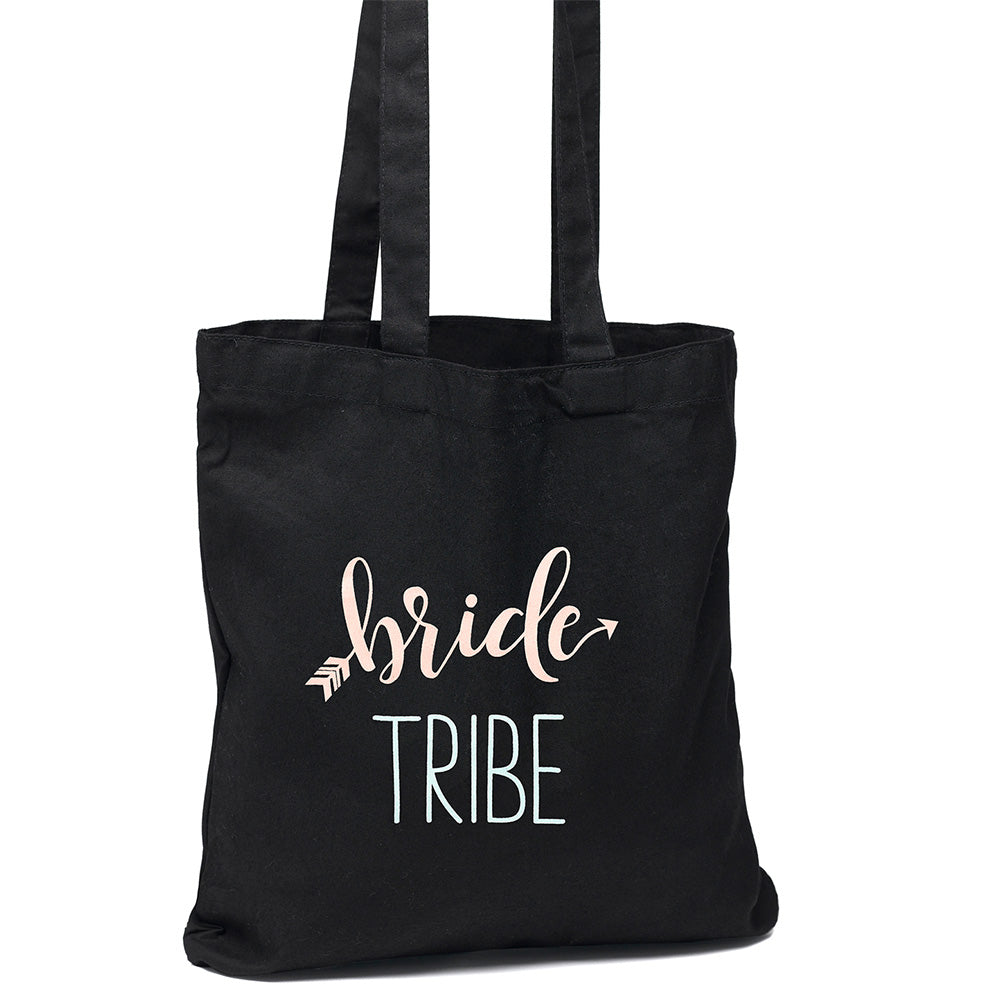 Bride Tribe Black Wedding Welcome Tote Bag