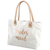 Metallic Gold Bridesmaid Tote Bag