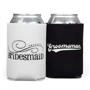 Bridesmaid and Groomsman Koozi Can Cooler