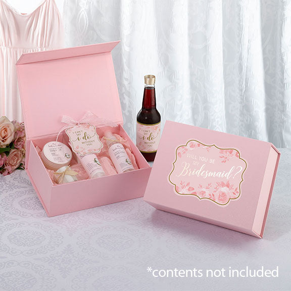 Will You Be My Bridesmaid Proposal Box - Pink and Gold