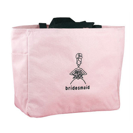 Pink Bridesmaid Tote Bag, carry wedding day and wedding rehearsal items.