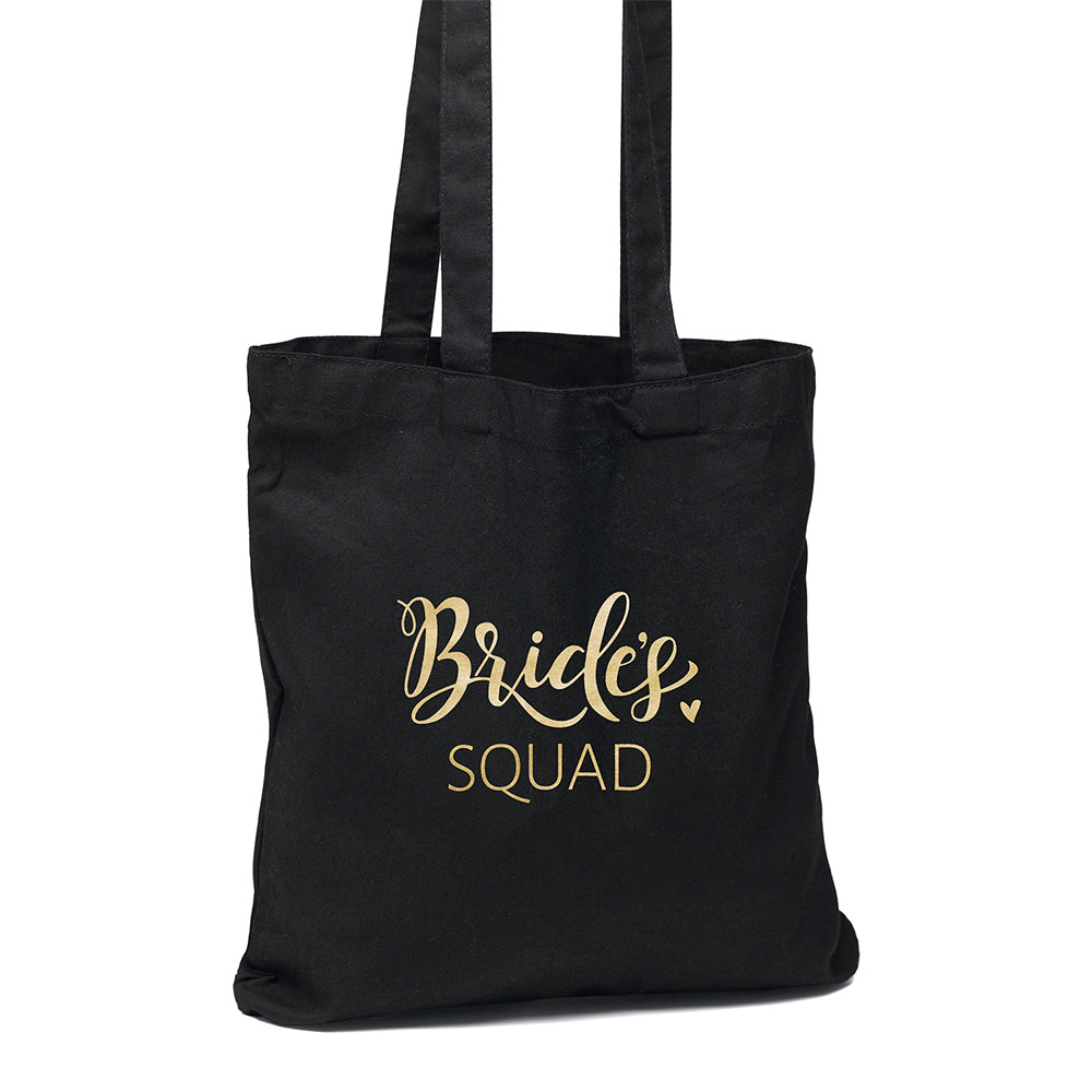 Bridal Party Black and Gold Tote Bag