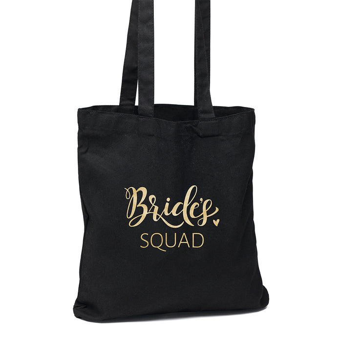 Bride's Squad Black Tote Bag
