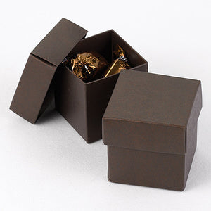 Mocha Brown 2-Piece Favor Box