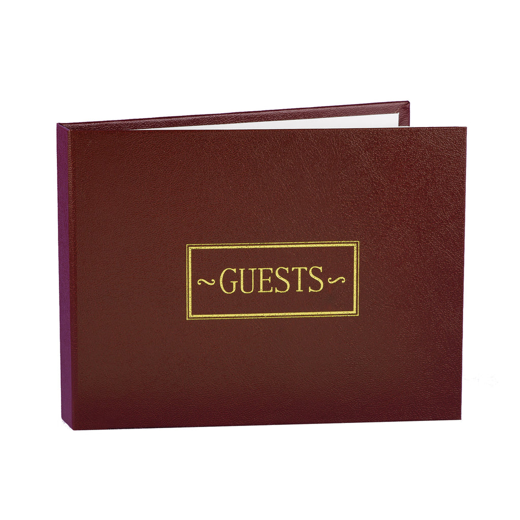 Burgundy Guest Book with Gold Foil
