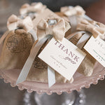 Mini Linen Drawstring Pouch with Thank You Tags