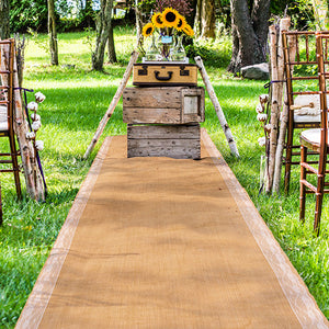 Burlap Rustic Wedding Aisle Runner
