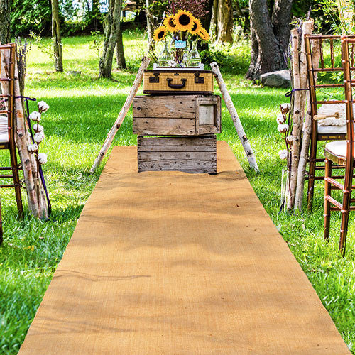 Burlap Wedding Aisle Runner Rustic Weddings