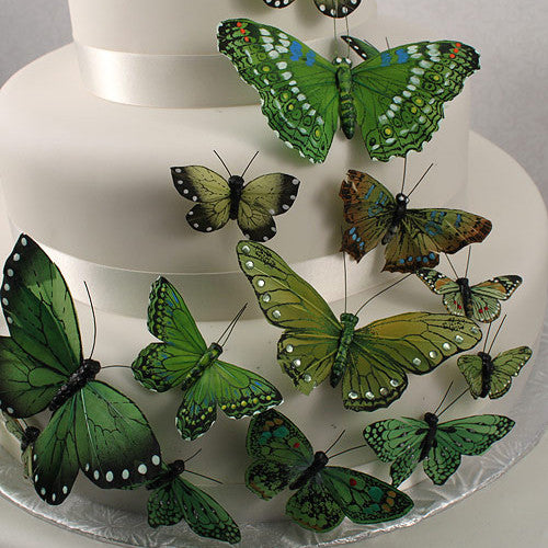 Beautiful Butterfly Cake Sets in Garden Charm Green