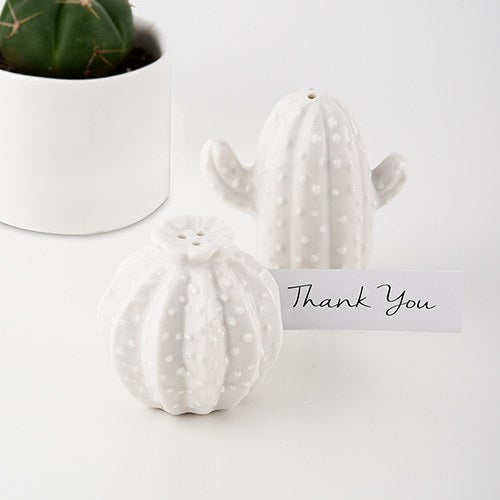 Cactus Salt and Pepper Shaker Set Wedding Party Favor Set