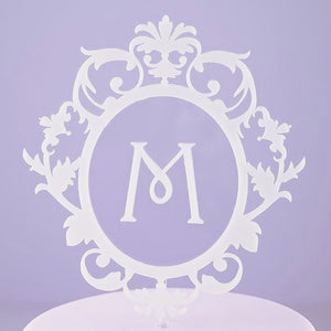 Classic Monogram Acrylic Wedding Cake Topper