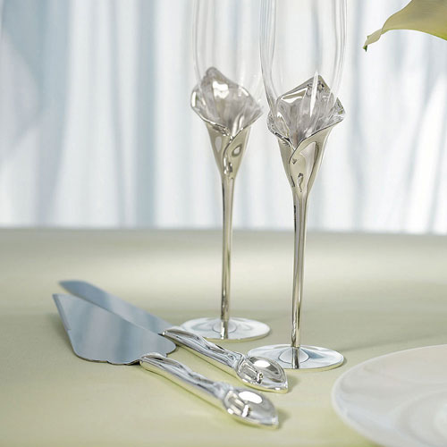 Personalized Calla Lily Wedding Cake Server