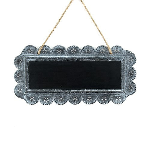Large Chalkboard Sign with Scalloped Tin Frame – Candy Cake Weddings