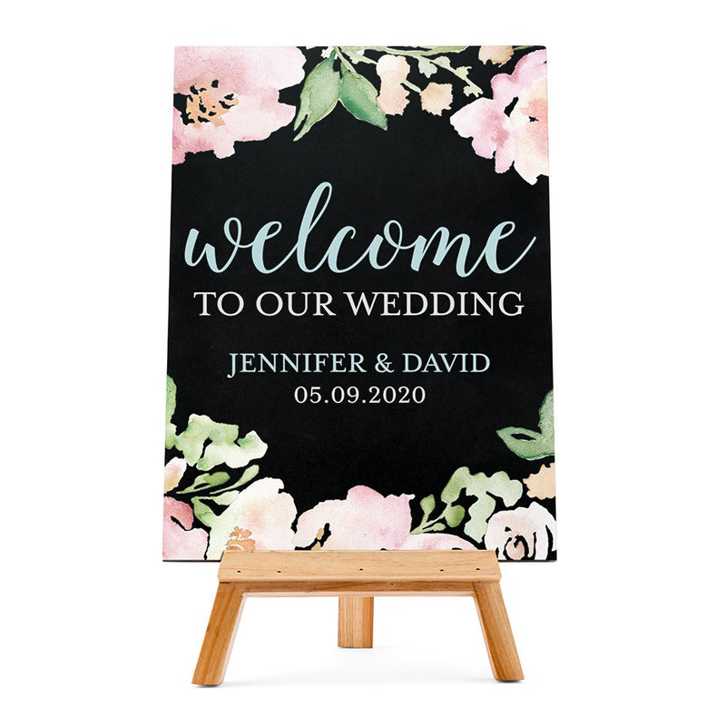 Wooden Tabletop Display Easel for Weddings and Parties