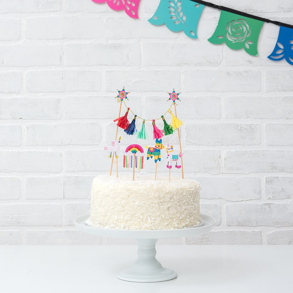 Colorful Fiesta Party Paper Cake & Cupcake Topper