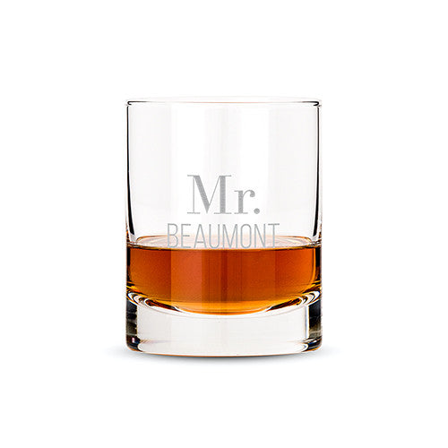 Personalized Classic Rocks Glass