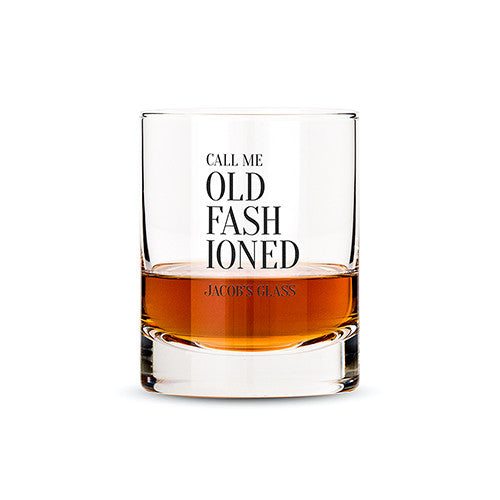 Personalized Call Me Old Fashioned Whiskey Glass