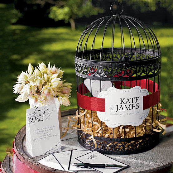 Decorative Birdcage - Round in Black - other items sold separately
