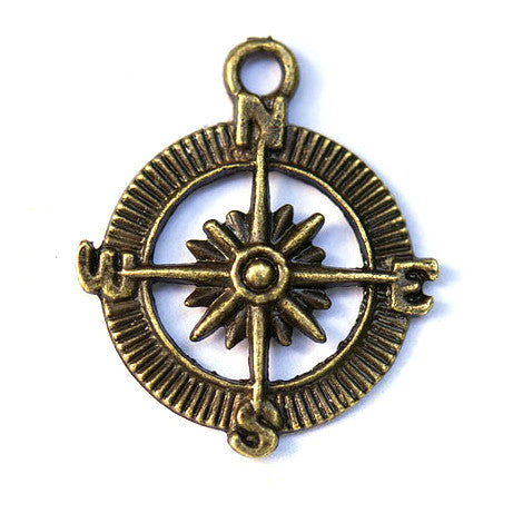 Antique Compass Wedding Favor Charm