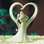 Traditional Porcelain Bride and Groom Wedding Cake Topper