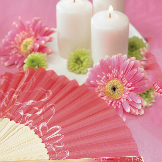 Hand Fan - Shown in Hot Pink