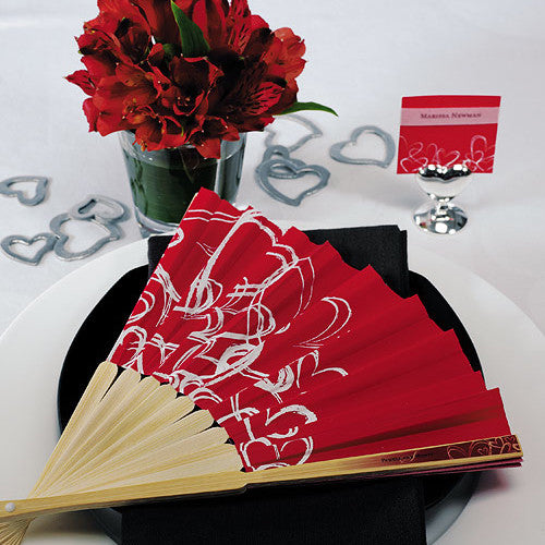 Hand Fan - Shown in Red