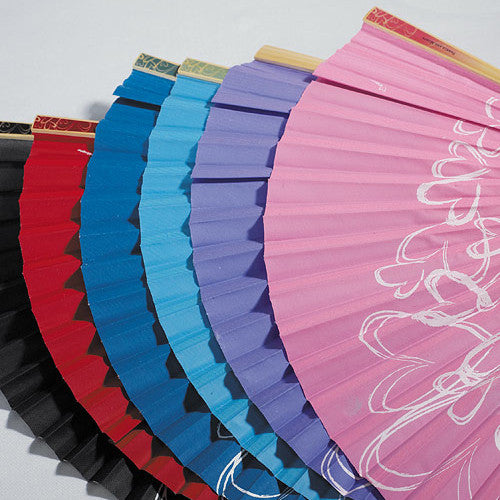 Assorted colors of the Hand Fans