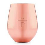 Stacked Monogram Personalized Rose Gold Copper Stemless Cup