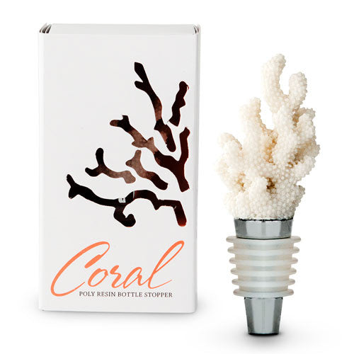 Coral Wine Bottle Stopper with Packaging