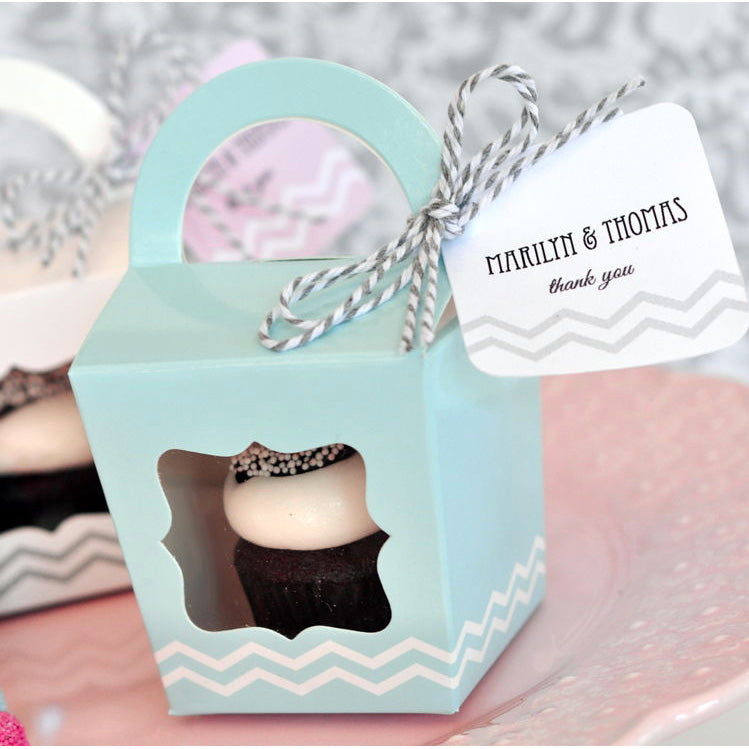Cupcake Tote Party Favor Box (Set of 12)