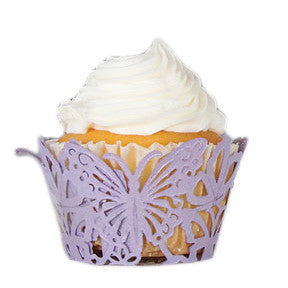 Beautiful Butterfly Filigree Paper Laser Cupcake Wraps
