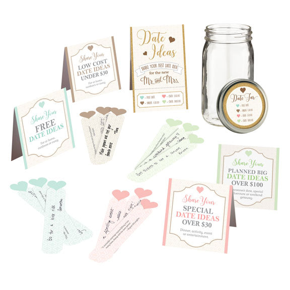 Bridal Shower Anniversary Date Suggestion Party Game Gift Idea