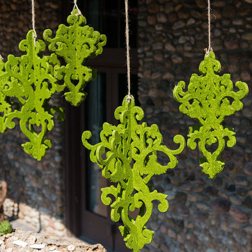 24 Inch Decorative Artificial Moss Chandelier