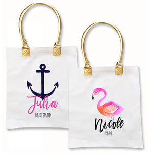 Personalized Destination Beach Wedding Tropical Beach Tote Bags