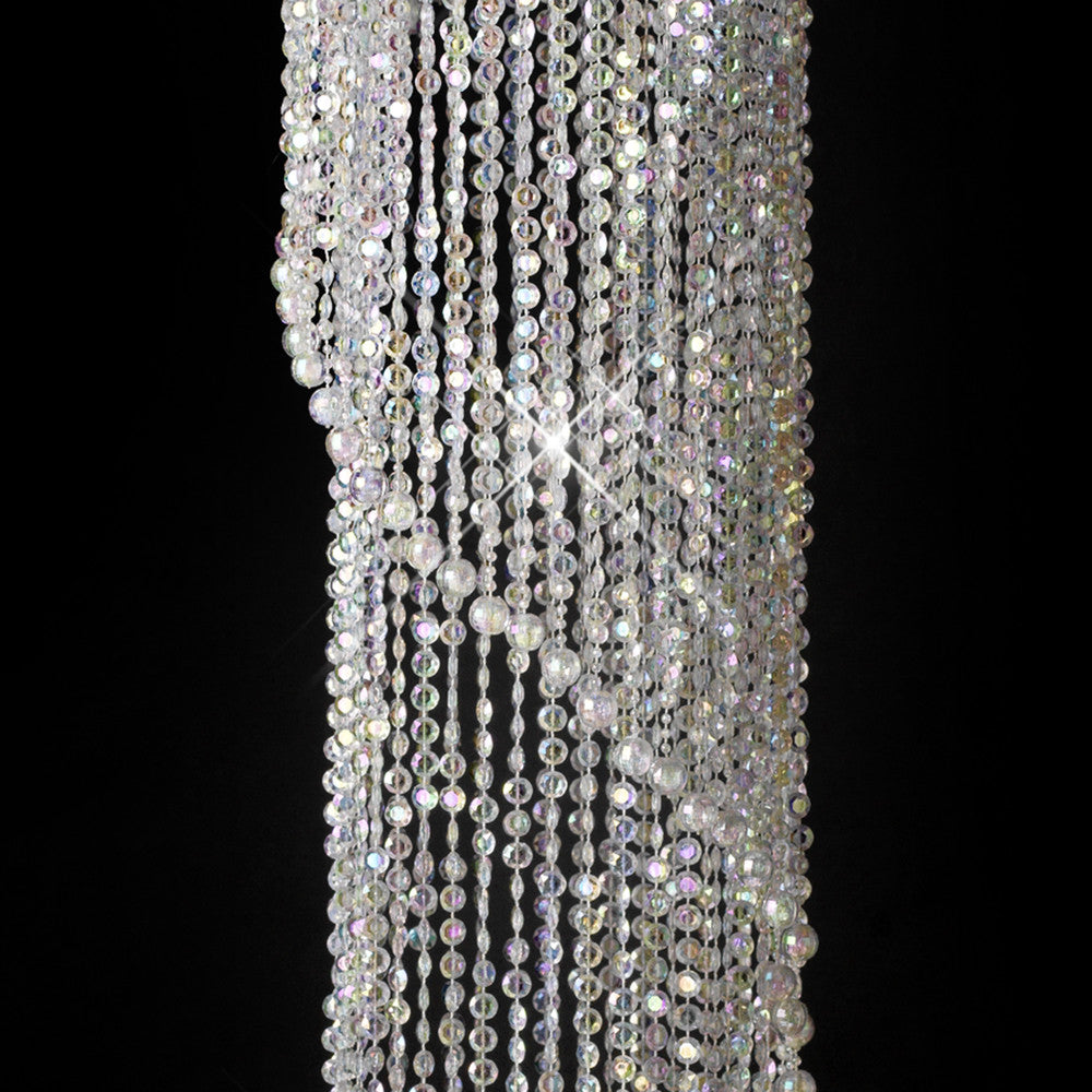 Diamond Cut Crystal Spiral Chandelier
