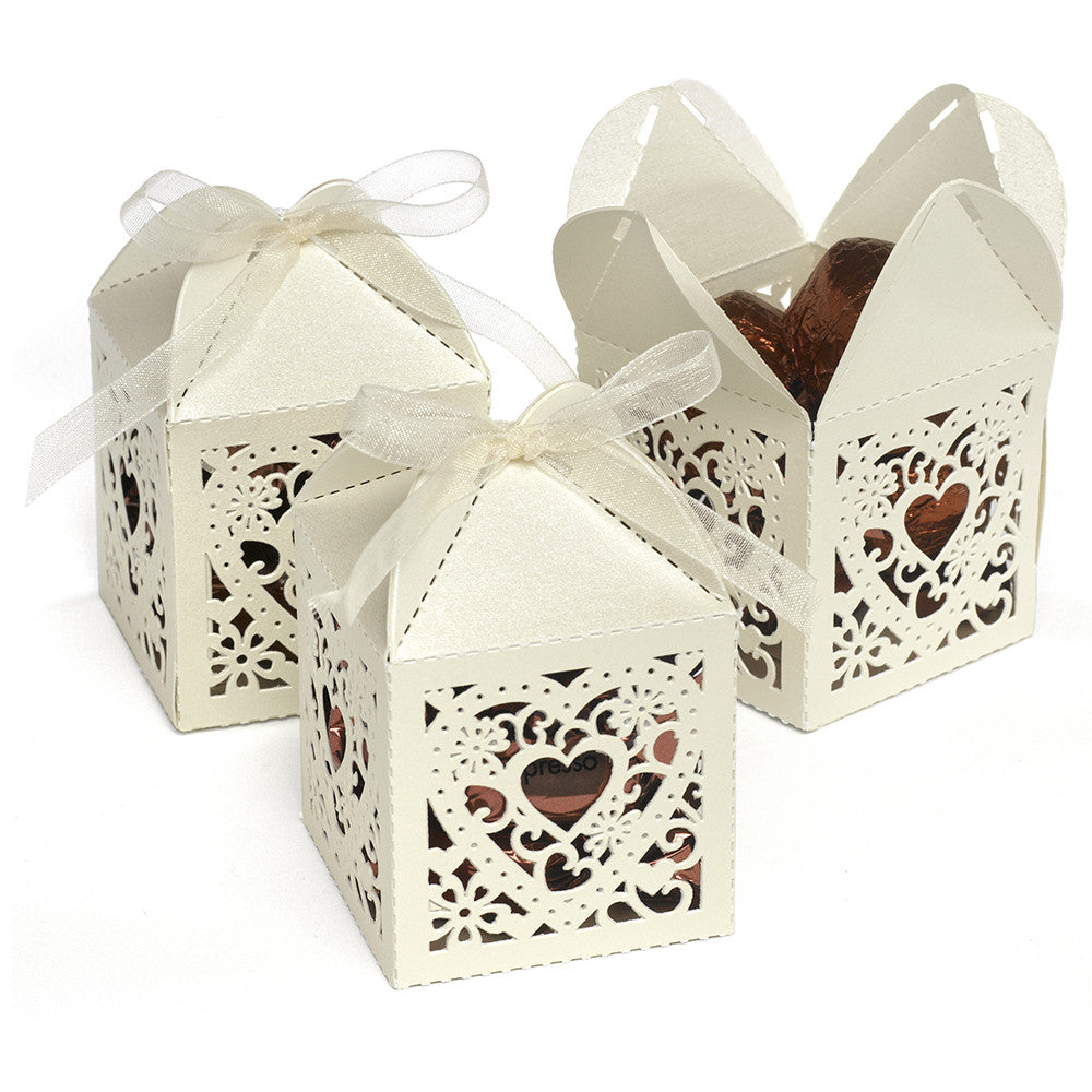 Decorative Die Cut Wedding Favor Boxes