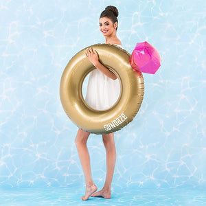 Gold Diamond Ring Inflatable Pool Float Engagement Wedding Themes