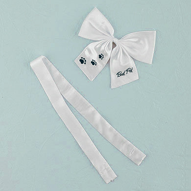"The ""Best Pet"" Wedding Bow set, use it for your dog at the wedding."
