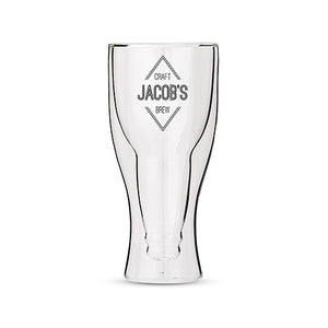 Personalized Double Walled Pilsner Pint Glass