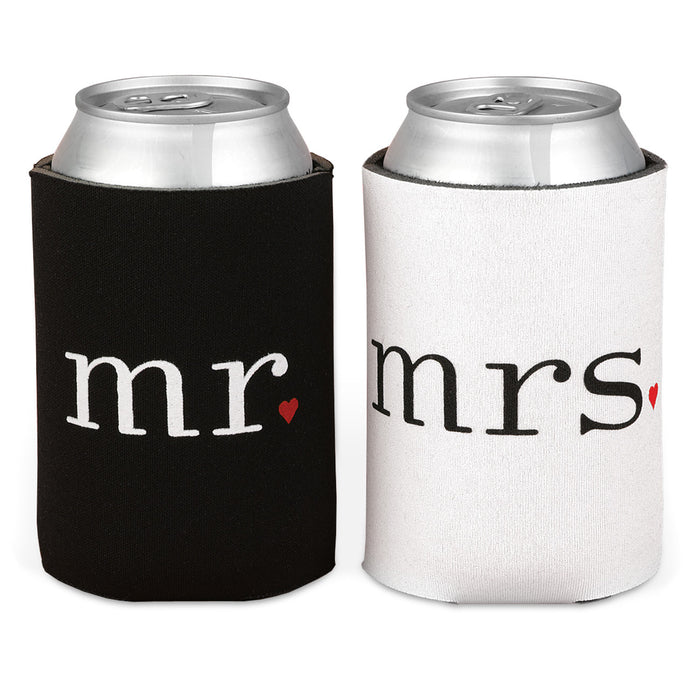 Mr and Mrs Can Wedding Drink Coolers