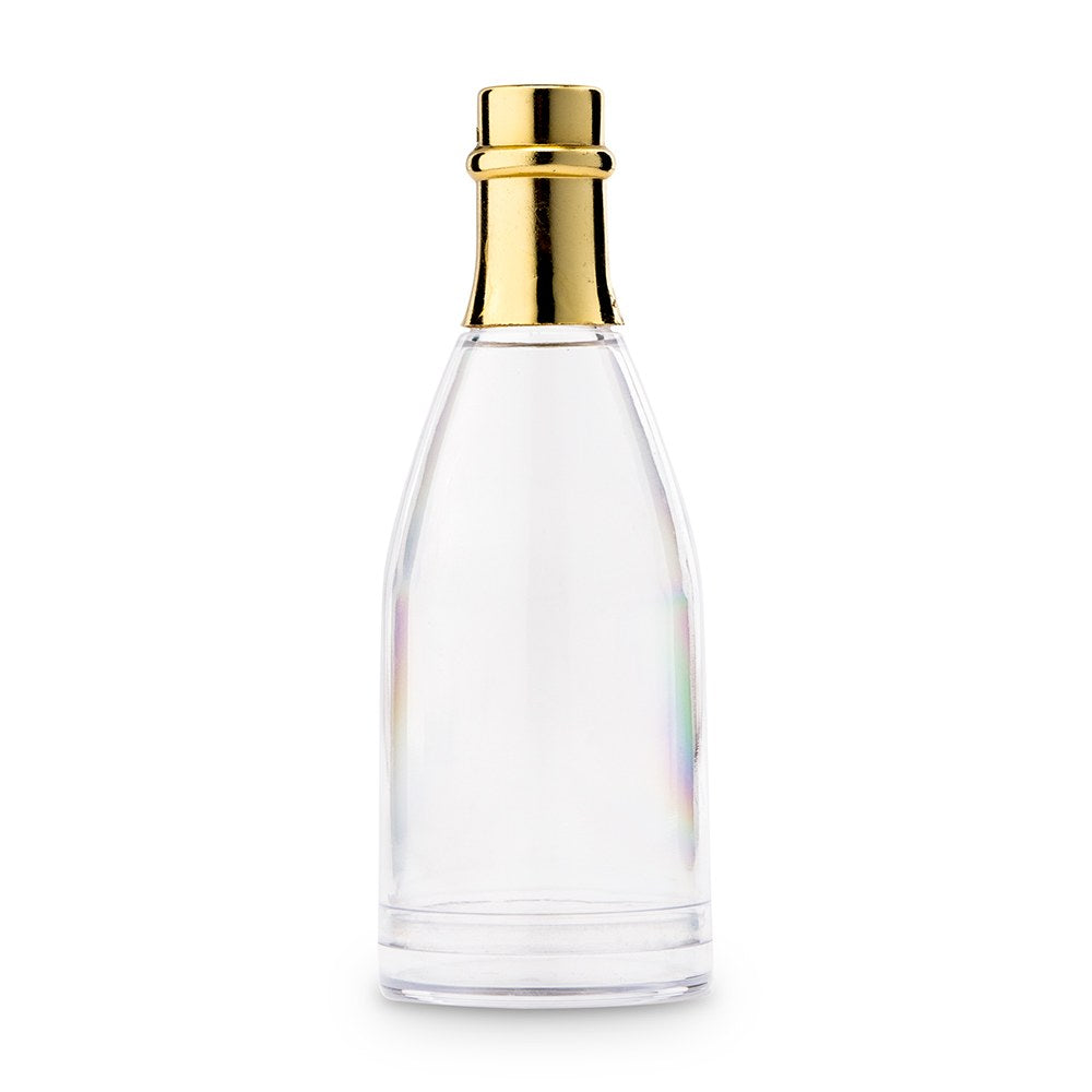 Plastic Champagne Bottle with Gold Lid Wedding Favor (Pack of 3)