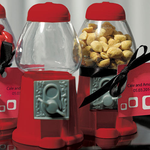 Red Empty Mini Classic Gumball Machine Wedding Favor