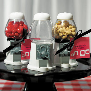 White Empty Mini Classic Gumball Machine Wedding Favor