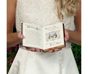 Fairy Tale Storybook Wedding Ring Holder White and Gold