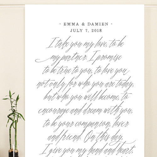 fairytale calligraphy happily ever after wedding personalized photo shoot sign candy