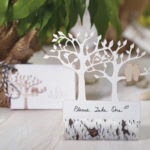 Faux Birch Log Card Holders - Stationary sold separately