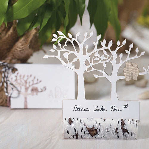 Faux Birch Log Card Holder sold separately.